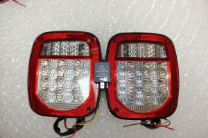 Jeep TJ Wrangler LED Tail Lights 2001 to 2006 with Flasher