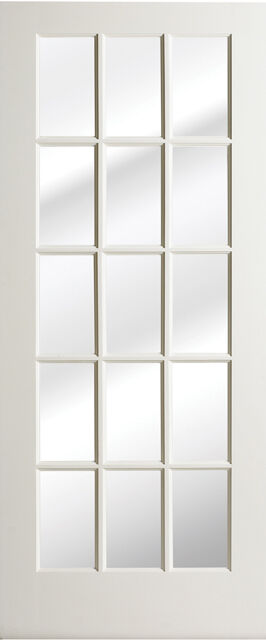 18 Lite Primed Smooth MDF Solid Wood Interior French Doors