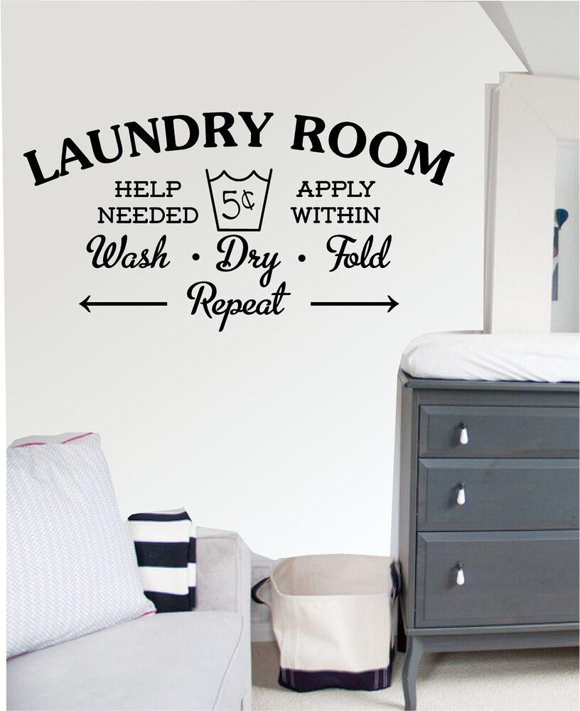 Laundry Room Wall Art Sticker Decal Mural Kitchen
