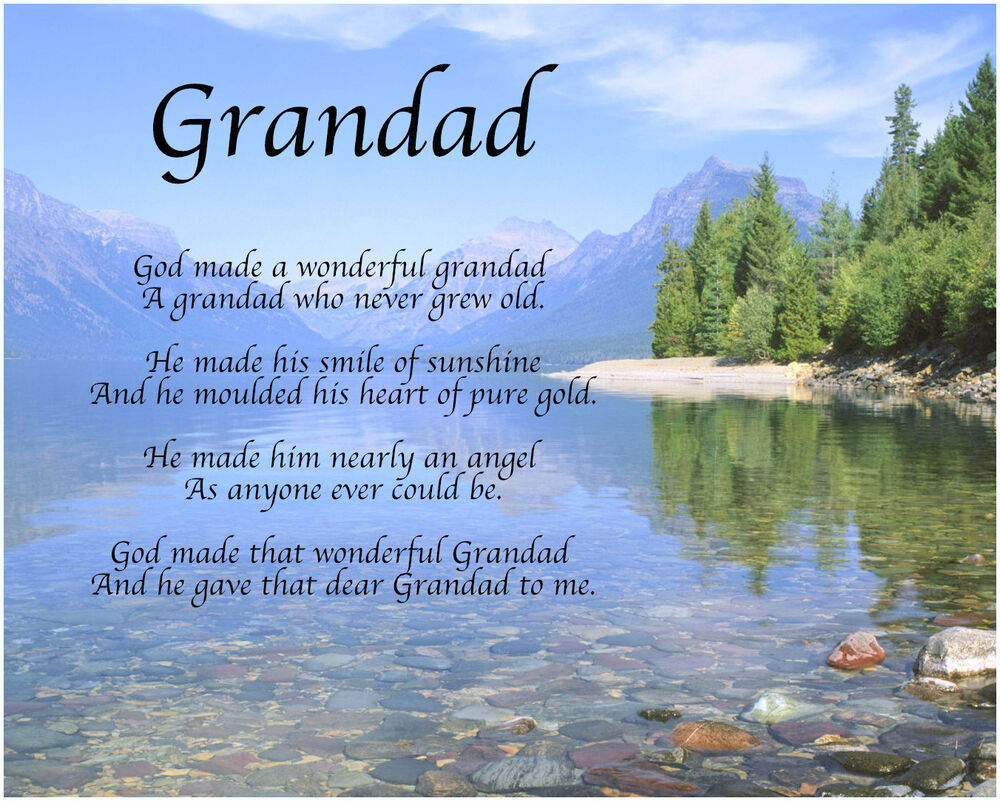 Personalised Grandad Poem Fathers Day Birthday Christmas