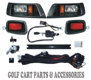 EZGO TXT Golf Cart Headlight & Tail Light Kit Deluxe