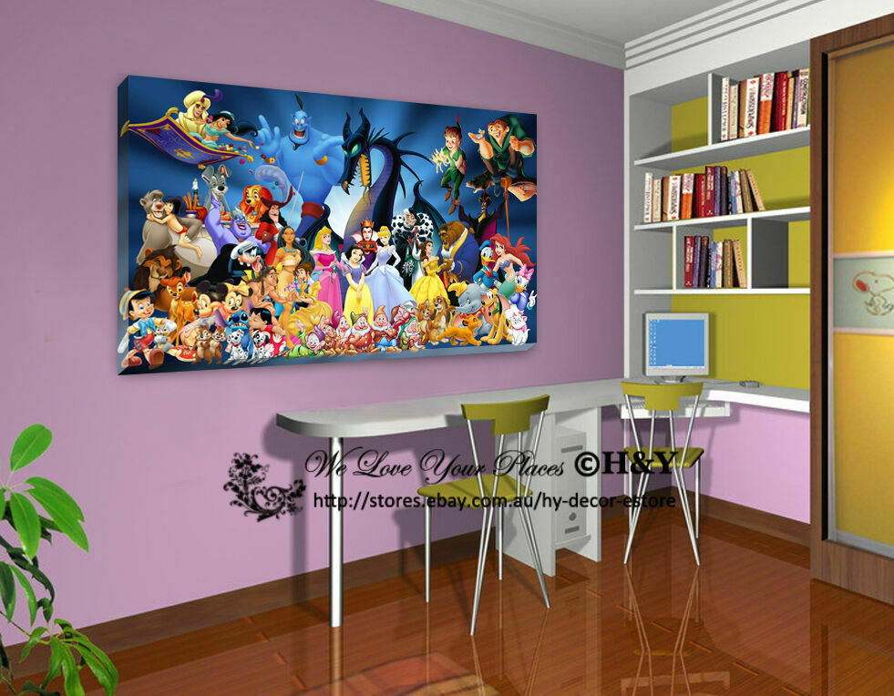 50x70x3cm Disney Characters Stretched Canvas Prints Wall