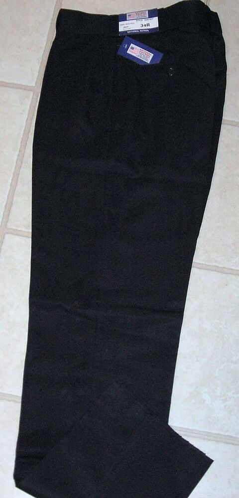 NAVY Blue PATROL POLICE SECURITY UNIFORM PANTS Mens 31 32 33 34 W Flat Front NWT EBay