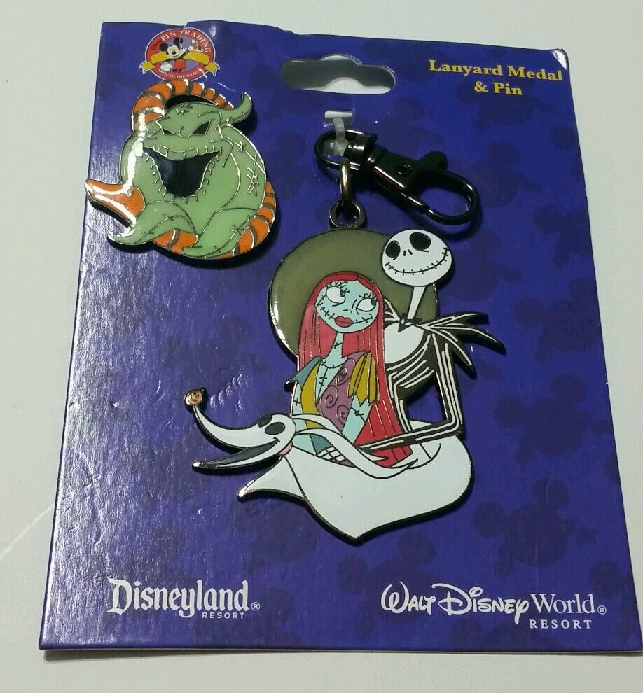 DISNEY PARKS NIGHTMARE BEFORE CHRISTMAS LANYARD MEDAL