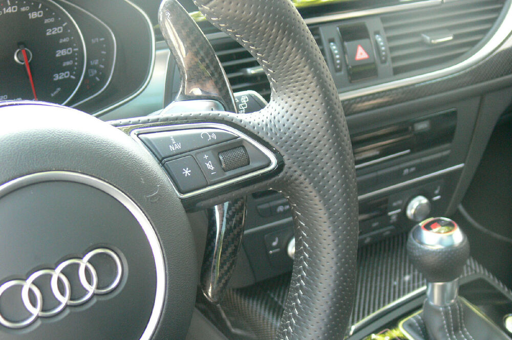 CARBON PADDLE EXTENSIONS SHIFT PADDLES AUDI A3 S3 A4 S4