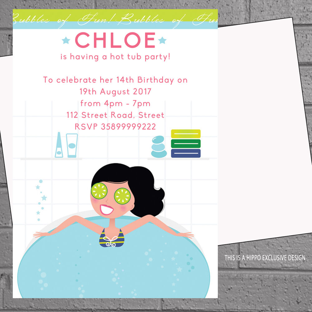 12 Girls Birthday Party Invitations