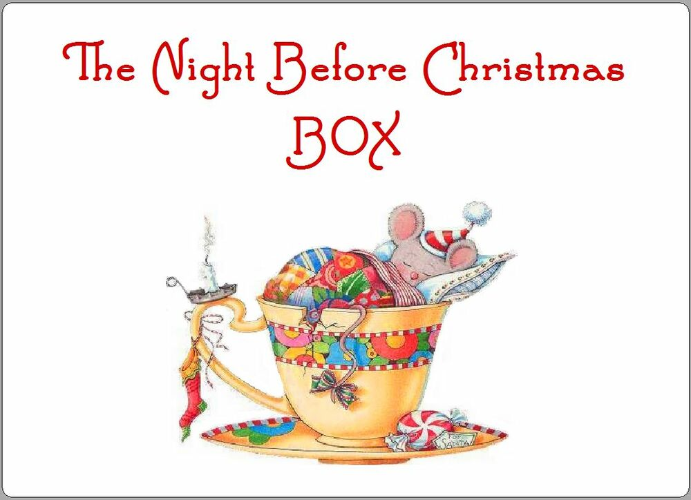 2 X CHRISTMAS EVE BOX LABELS STICKERS GIFT KIDS NOVELTY