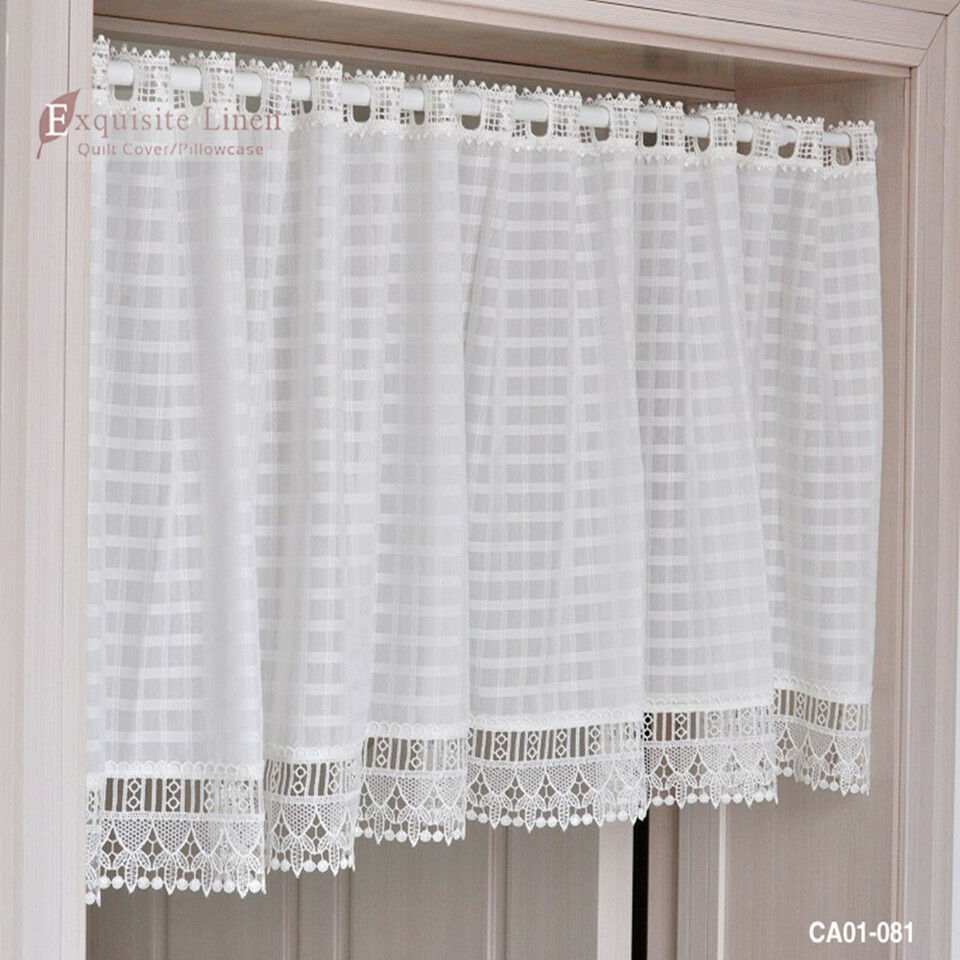 White Eyelet Cafe Curtains