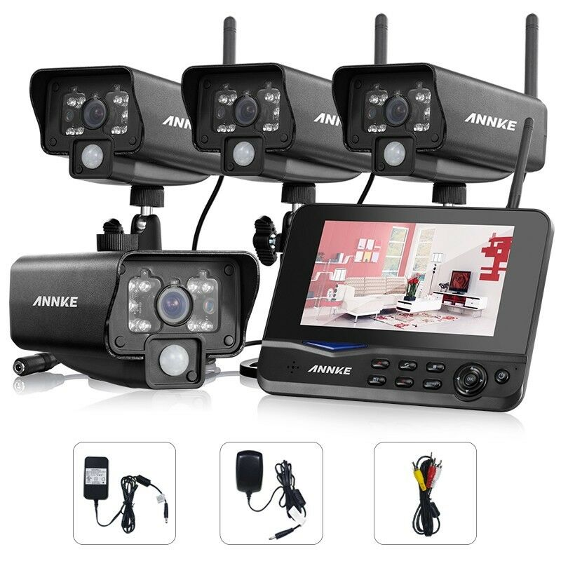 Wireless 4ch Quad Dvr Security System