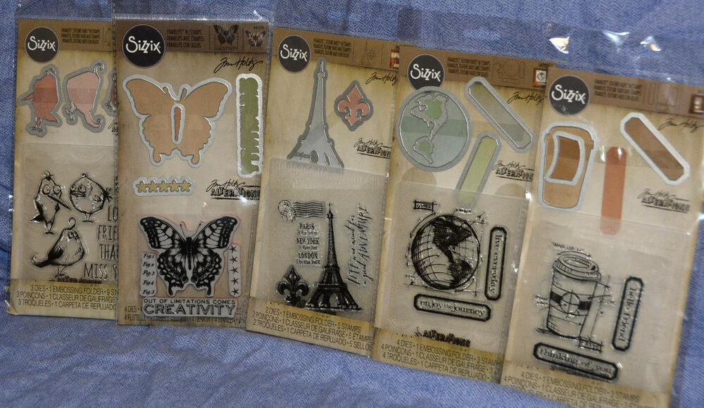 Sizzix TIm Holtz Framelits Texture Fades Stamps Lot Stamp