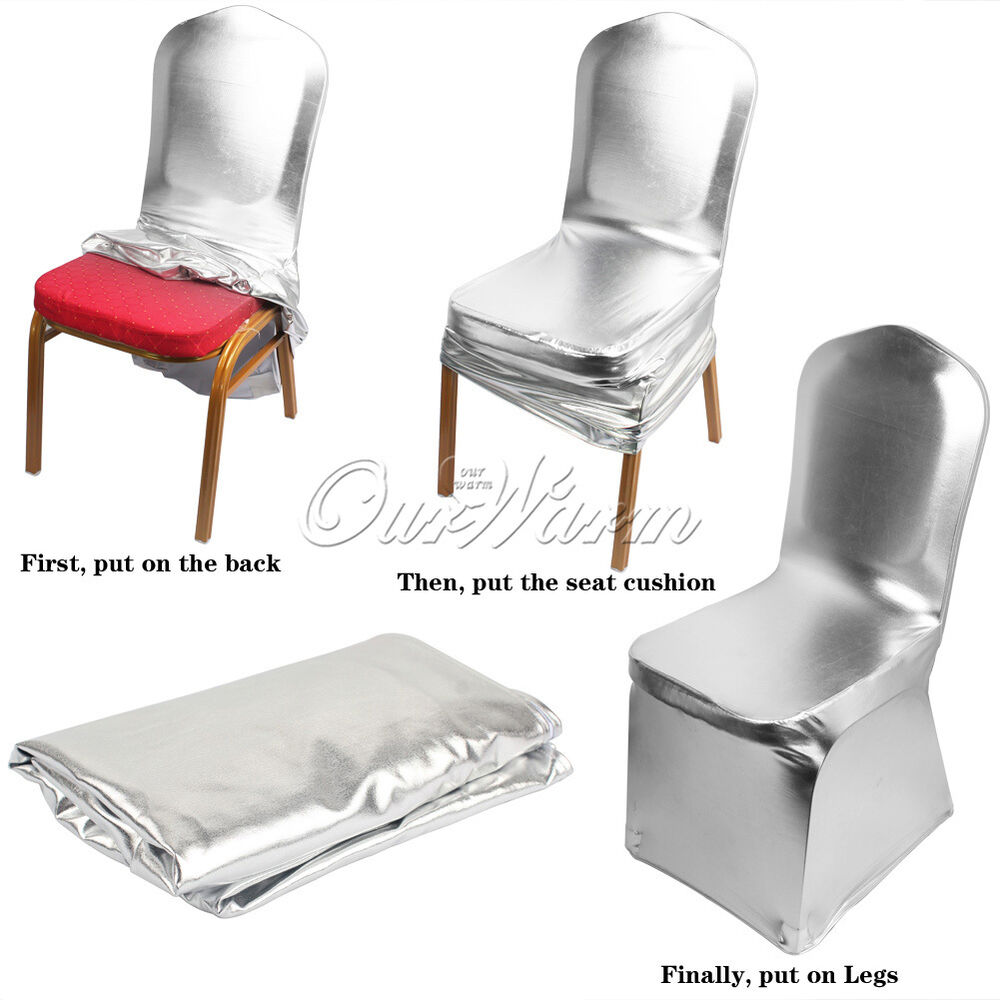 5 12 Bronzing Elastic Spandex Chair Cover For Wedding