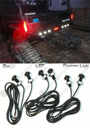 6pc Polaris Ranger LED Backup Reverse Lights ATV RZR