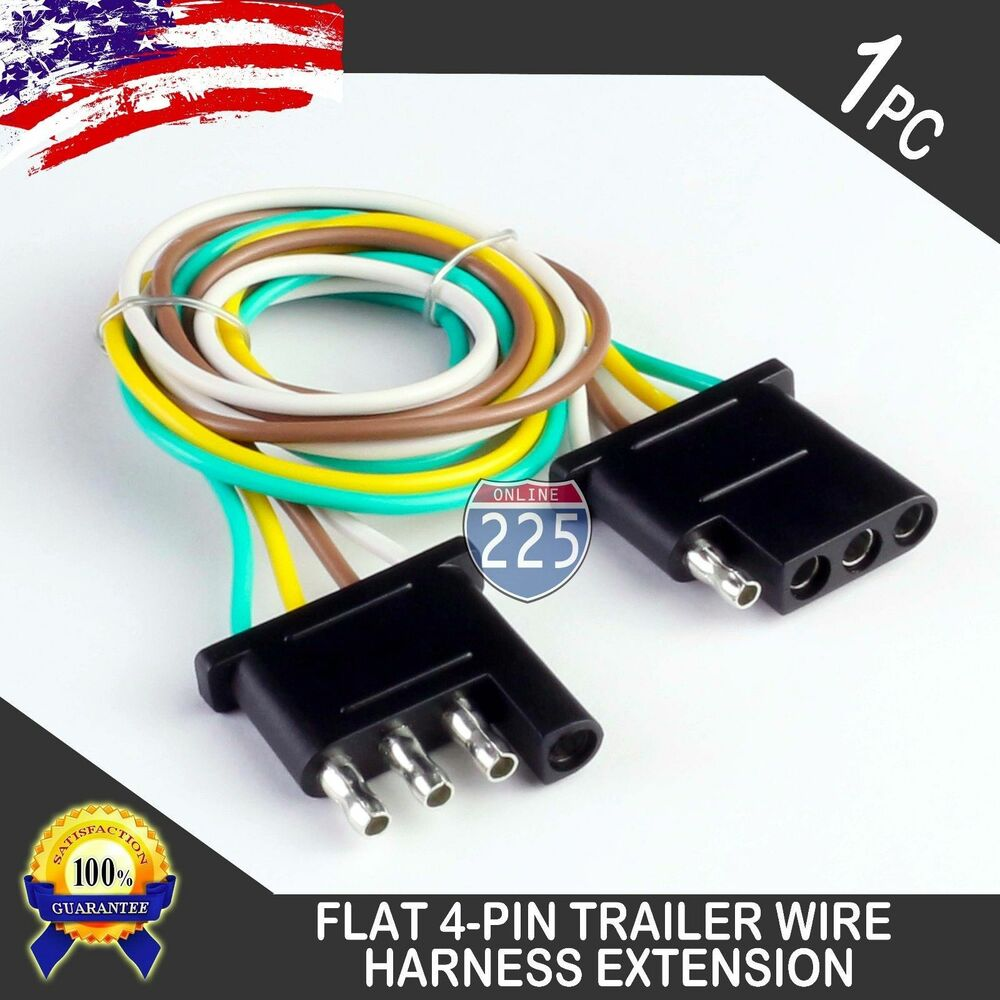 1ft Trailer Light Wiring Harness Extension 4 Pin Plug 18