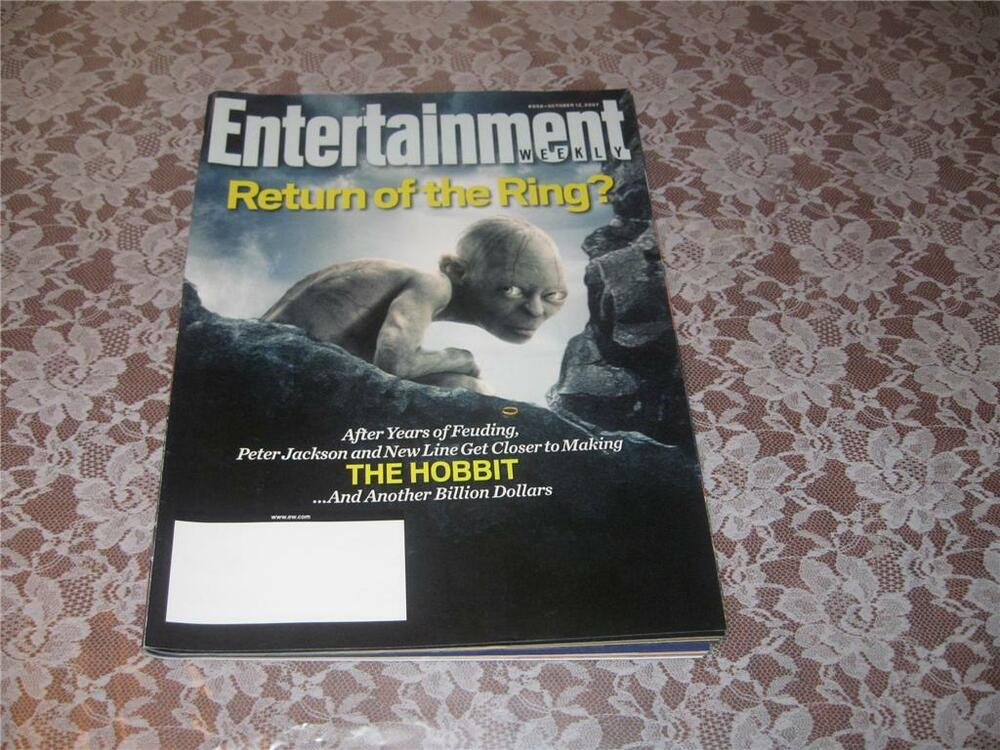entertainment weekly lord of the rings golem oct 07 ebay