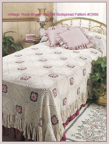 Bed Roses Crocheted Bedspread