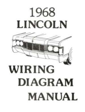 LINCOLN 1968 Continental Wiring Diagram Manual 68 | eBay