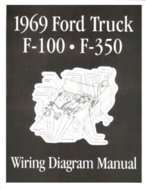 FORD 1969 F100  F350 Truck Wiring Diagram Manual 69 | eBay