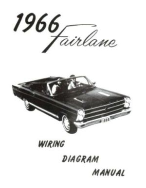 FORD 1966 Fairlane Wiring Diagram Manual 66 | eBay