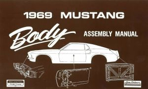 1969 Ford Mustang Body Assembly Manual Book Instructions Drawings OEM | eBay