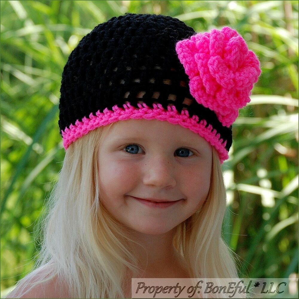 Knit Flower Hat For Baby