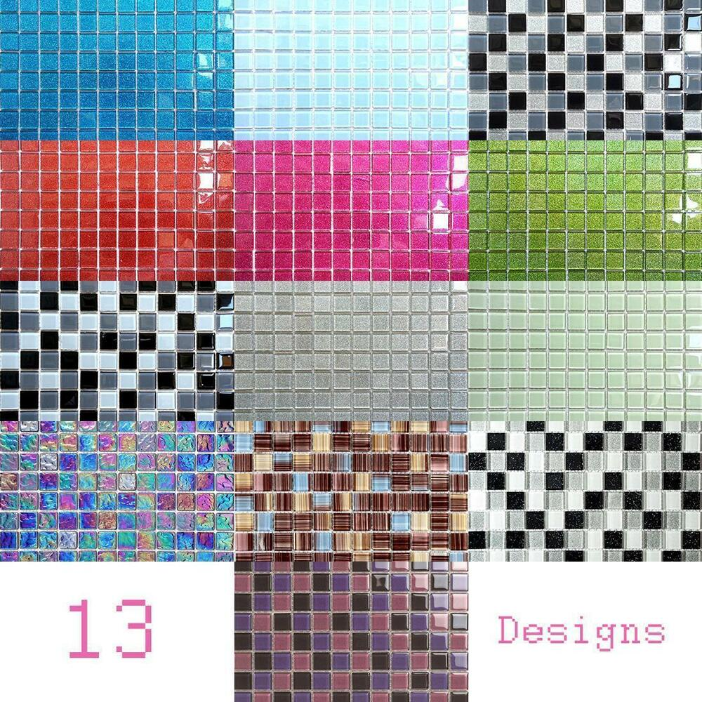 Cheap Trade Prices Glass Mosaic Tile Sheets Green Blue Red