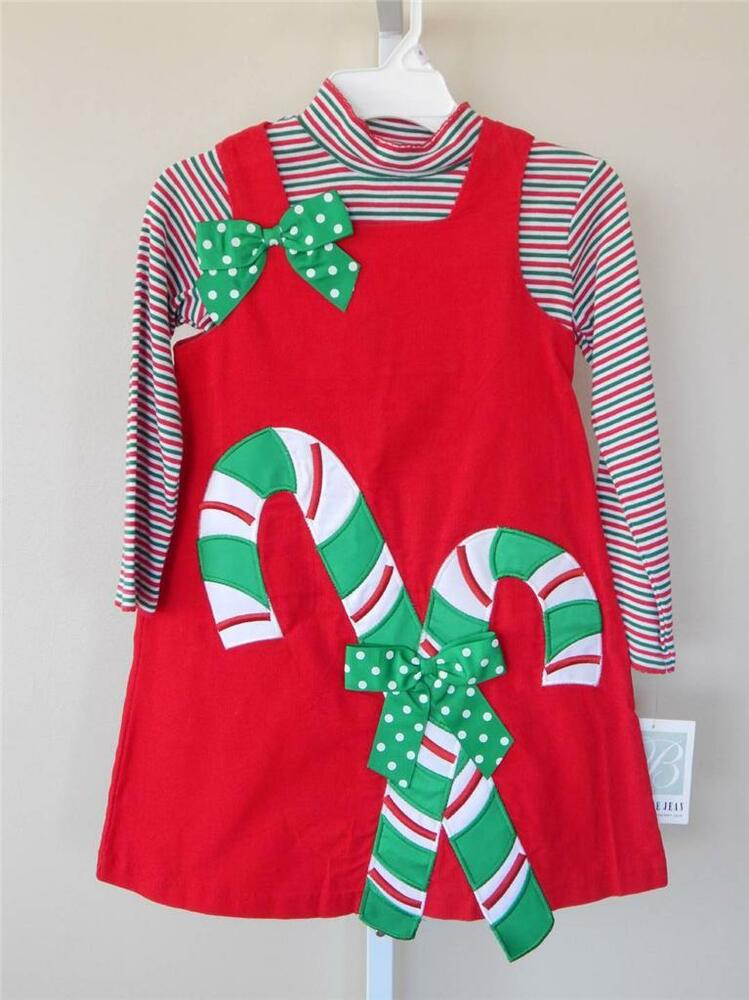 Bonnie Jean Dress Sz 5 6 Girl Clothes Christmas Church Party Candy Canes Holiday EBay