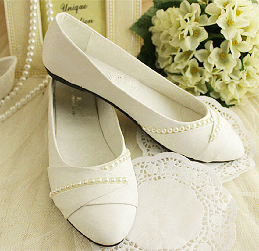 Ivory Wedding Flats Bride