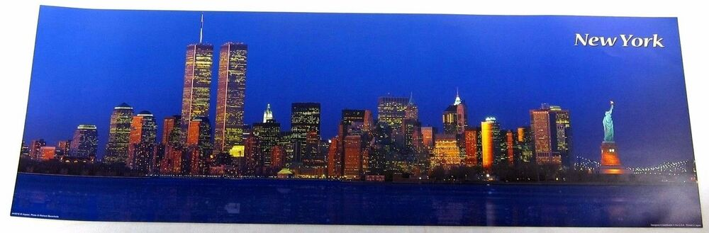 And Liberty New Twin Tower Painting York Skyline Statue Watercolor
