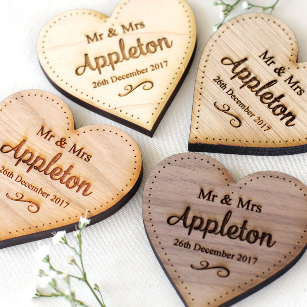 Personalised Wedding Table Decorations