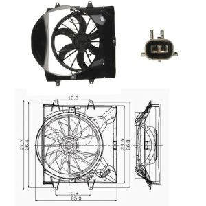 Electric Cooling Fan Assembly For: 19992003 Jeep Grand