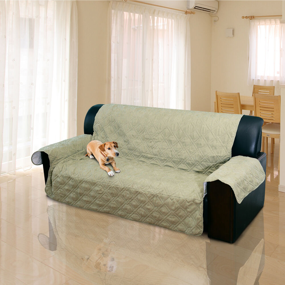 2 3 Seater Quilted Sofa Cover Couch Protector Pet Dog Cat Mat Throw Slipcover EBay