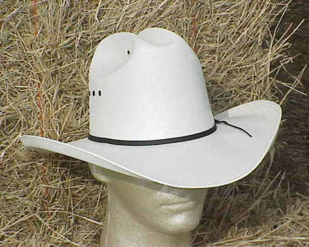 Black And White Straw Western Hats