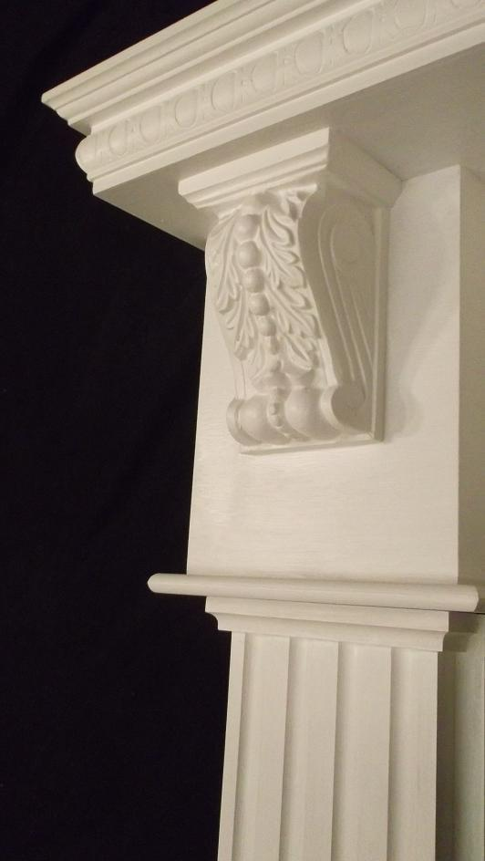 Fireplace Mantel Surround Wood Gas Fireplaces White Primed