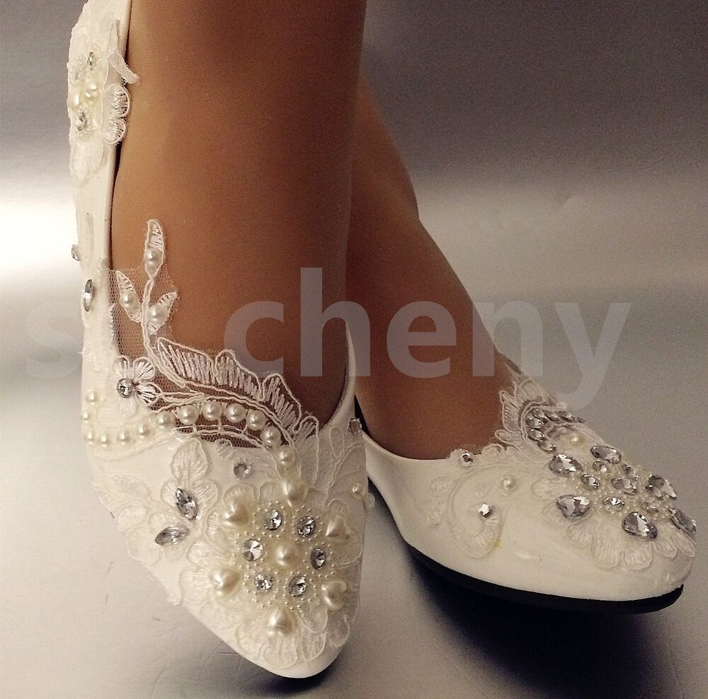 Lace Wedding Flats Bride