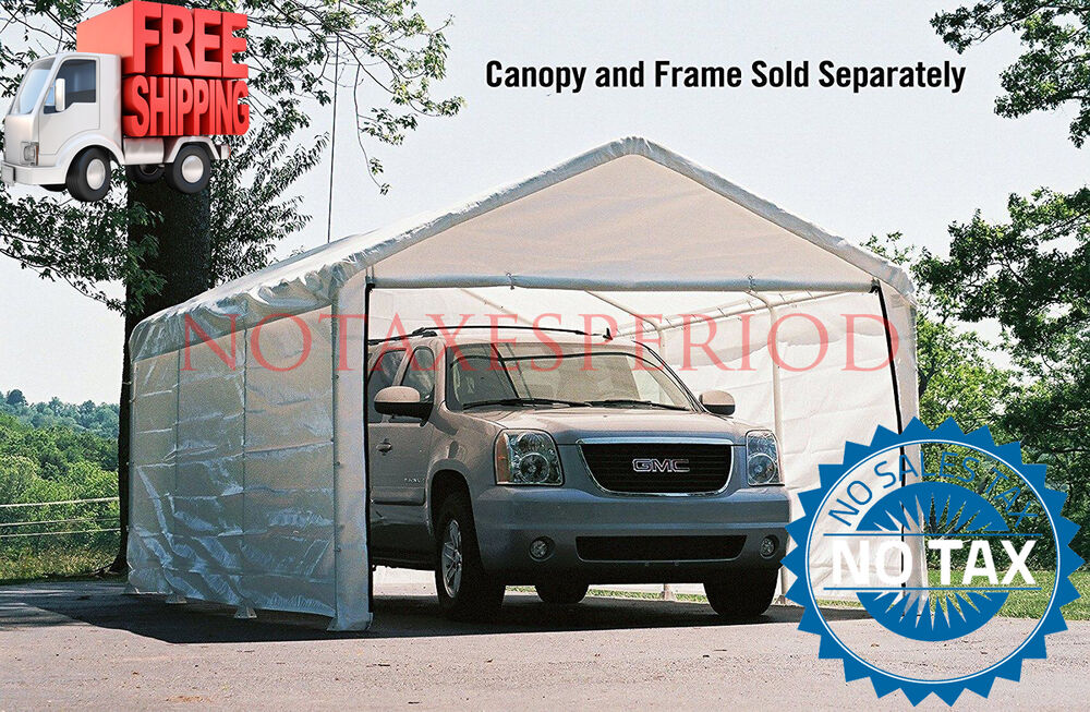 Outdoor Canopy Enclosure Kit 12x20 ONLY Car Shelter Cover Tent Portable Garage EBay