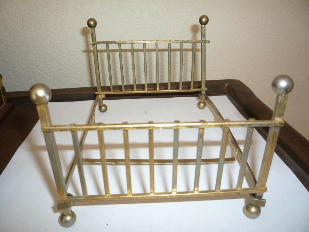 Vintage Iron Queen Size Metal Bed Frame Doll House