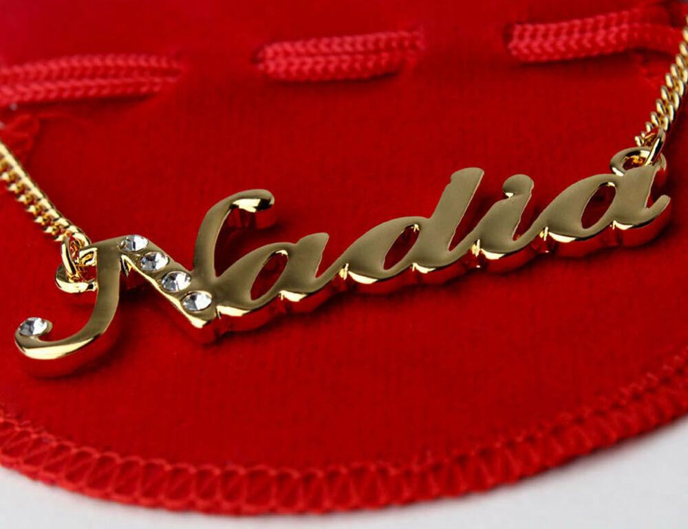Name Necklace NADIA 18ct Gold Plated Personalised Arabic