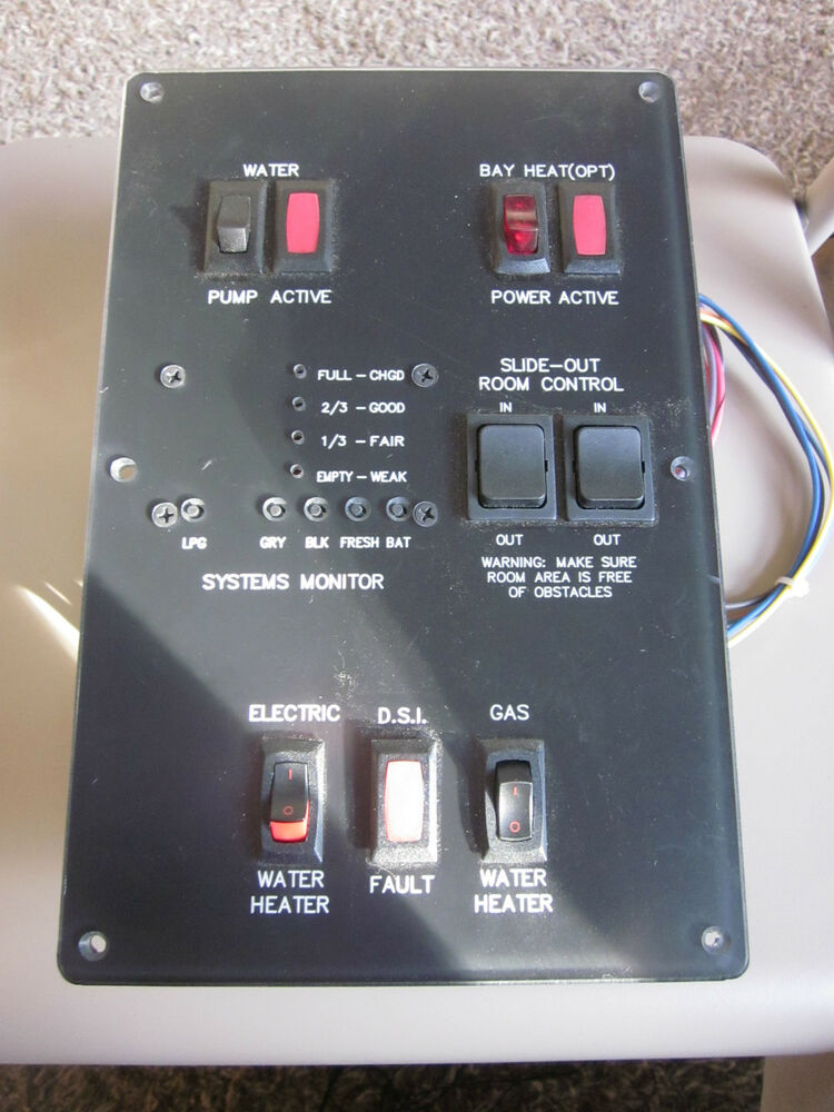 Systems Monitor Panel Camper Trailer Rv New On Shelf