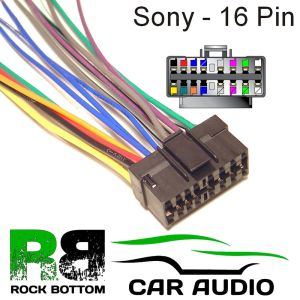 SONY CDX SERIES Car Radio Stereo 16 Pin Wiring Harness