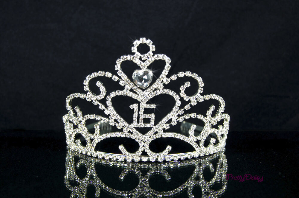 SWEET SIXTEEN 16 BIRTHDAY PARTY 15S HEART RHIESTONE TIARA
