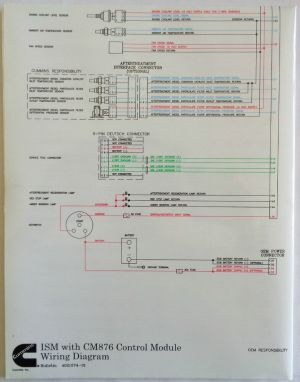 Cummins Laminated ISM With CM876 Control Module Wiring Diagram | eBay