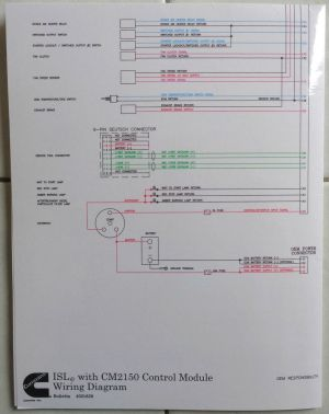 Cummins Laminated ISLe with CM2150 Control Module Wiring