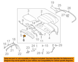 BMW OEM 0308 Z4 Convertiblesoft TopCenter Cover