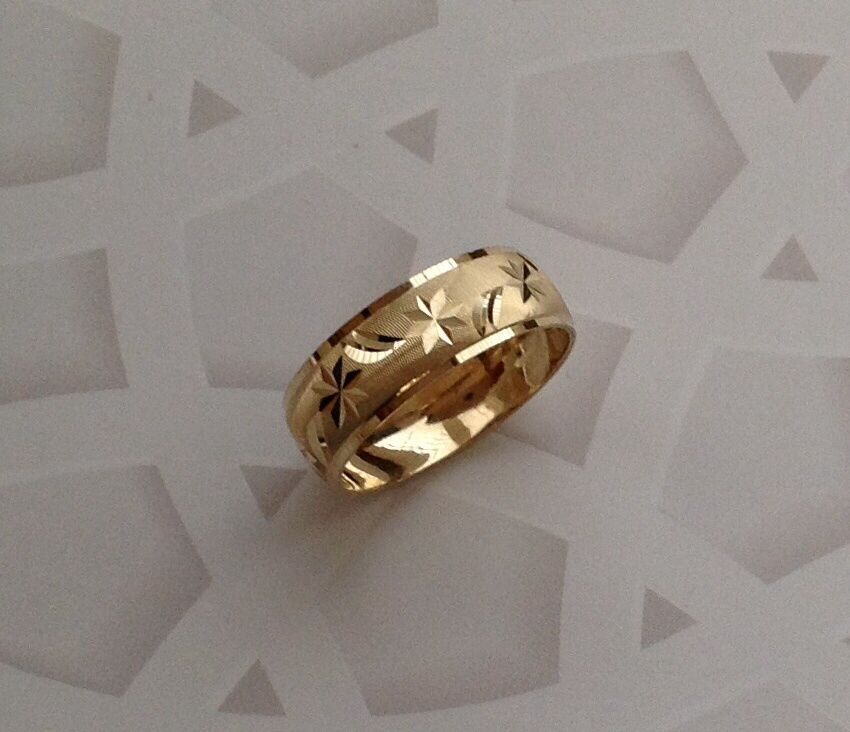 14K SOLID GOLD MENS WOMENS WEDDING BAND RING 5 13 FREE