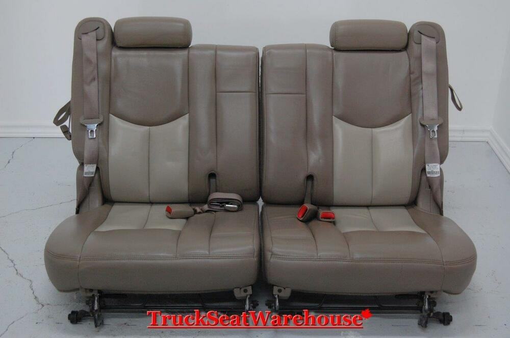 Chevy Truck Escalade Two Tone Tan Third Row Seats 3rd