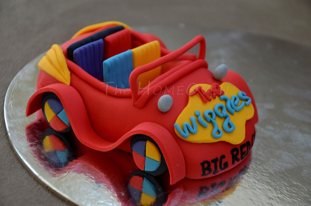 3D Edible Wiggles Big Red Car Fondant Cake Topper Large