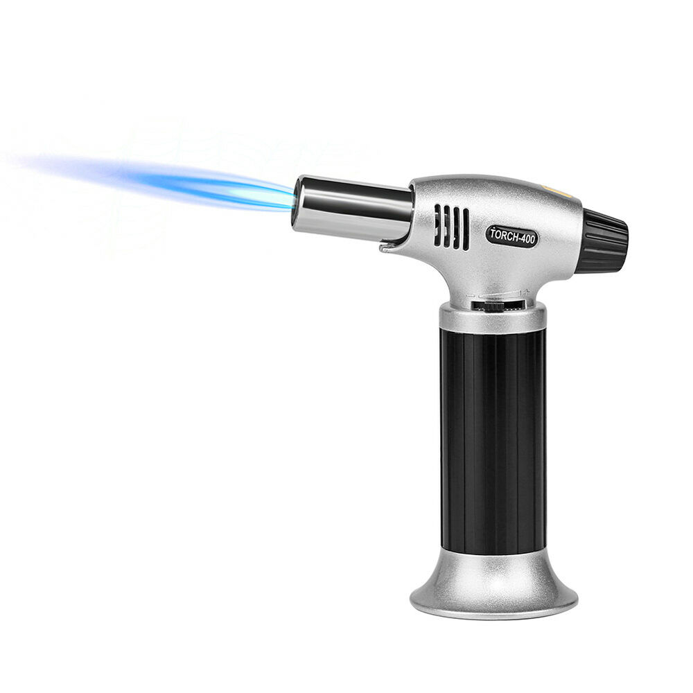 Kitchen Refillable Butane Torch Culinary Creme Brulee Blow