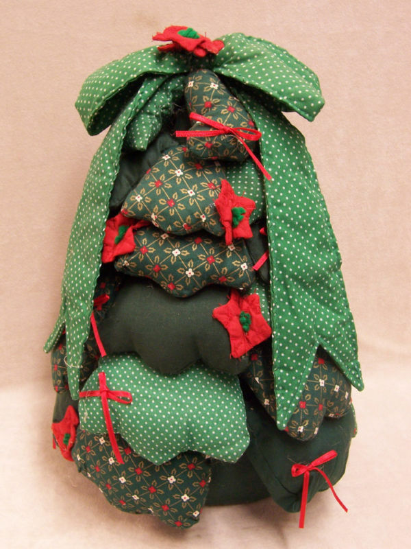 HAND CRAFTED FABRIC WEIGHTED CHRISTMAS TREE DOOR STOP EBay