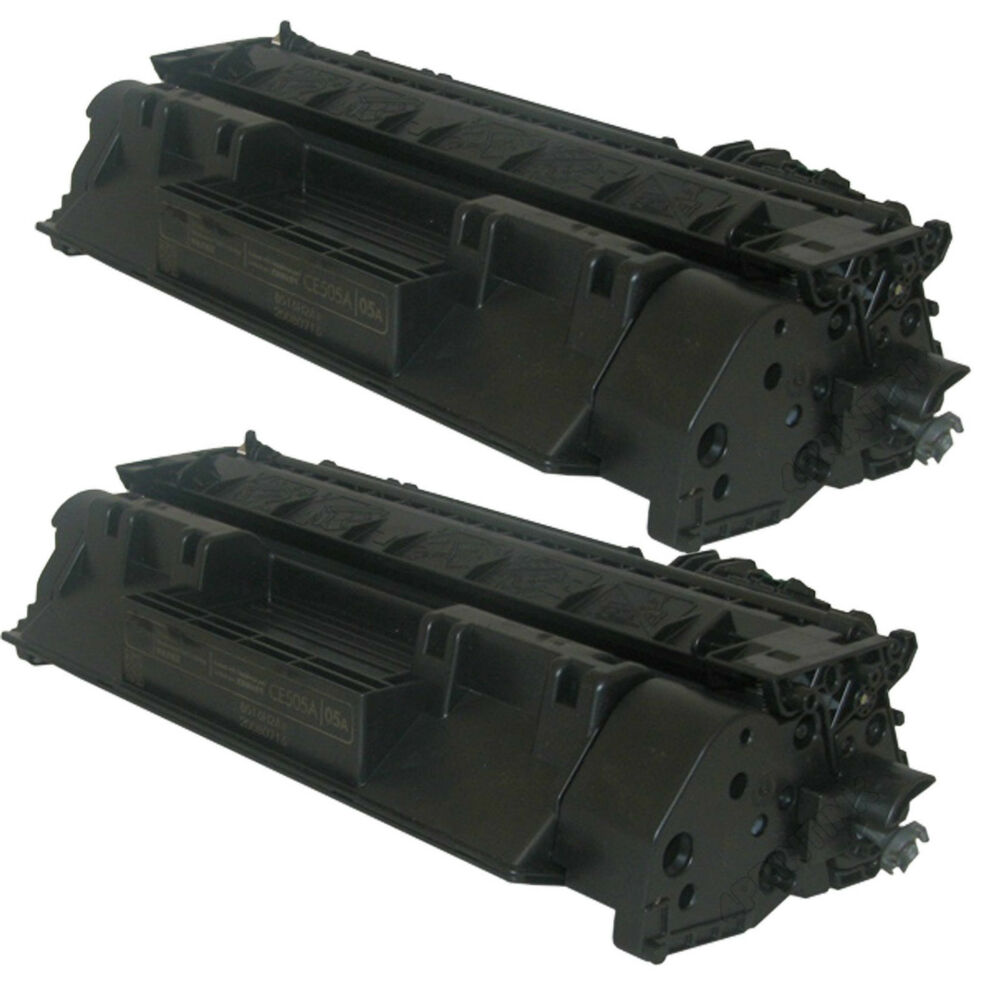 2 Pack Ce505a 05a Compatible Toner Cartridge Fits Hp