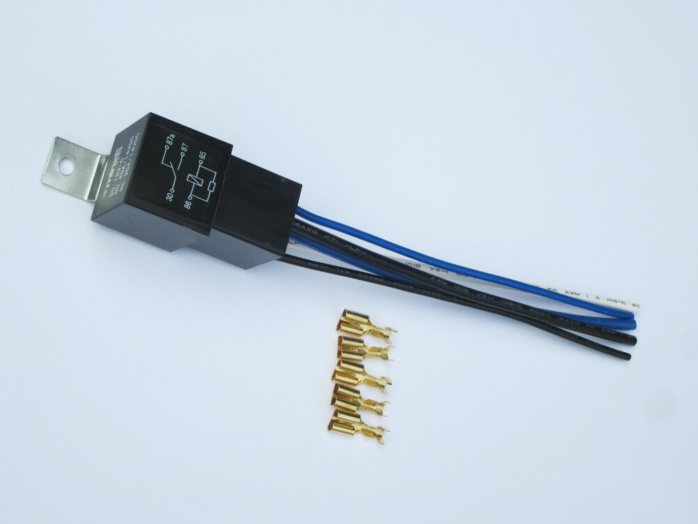 Automotive 5 Pin Changeover Relay 30/40amp With Socket And